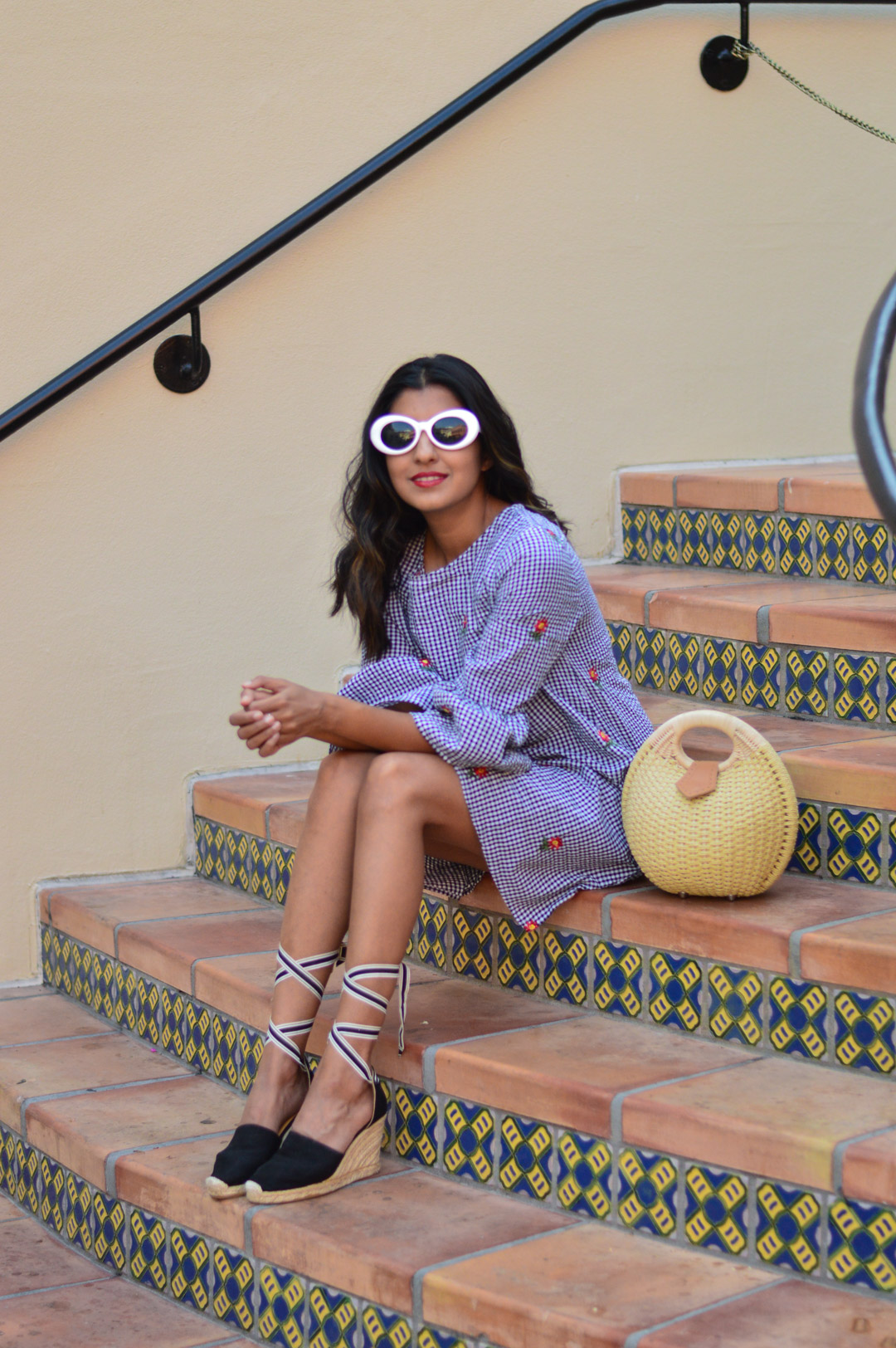 gingham-embroidered-dress-transition-style-fashion-blogger-outfit 3