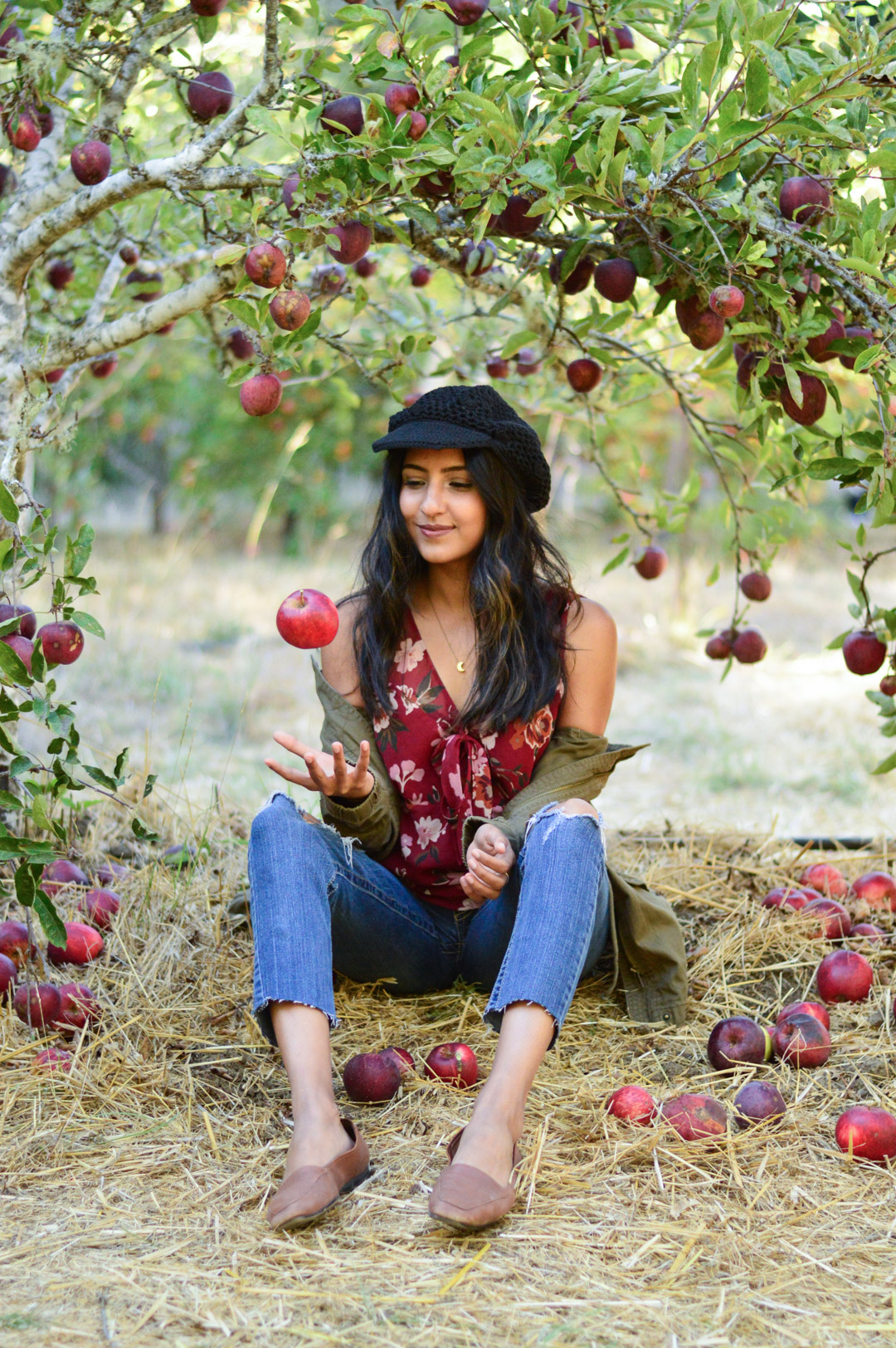 apple-picking-fall-florals-utility-jacket-california-style 1