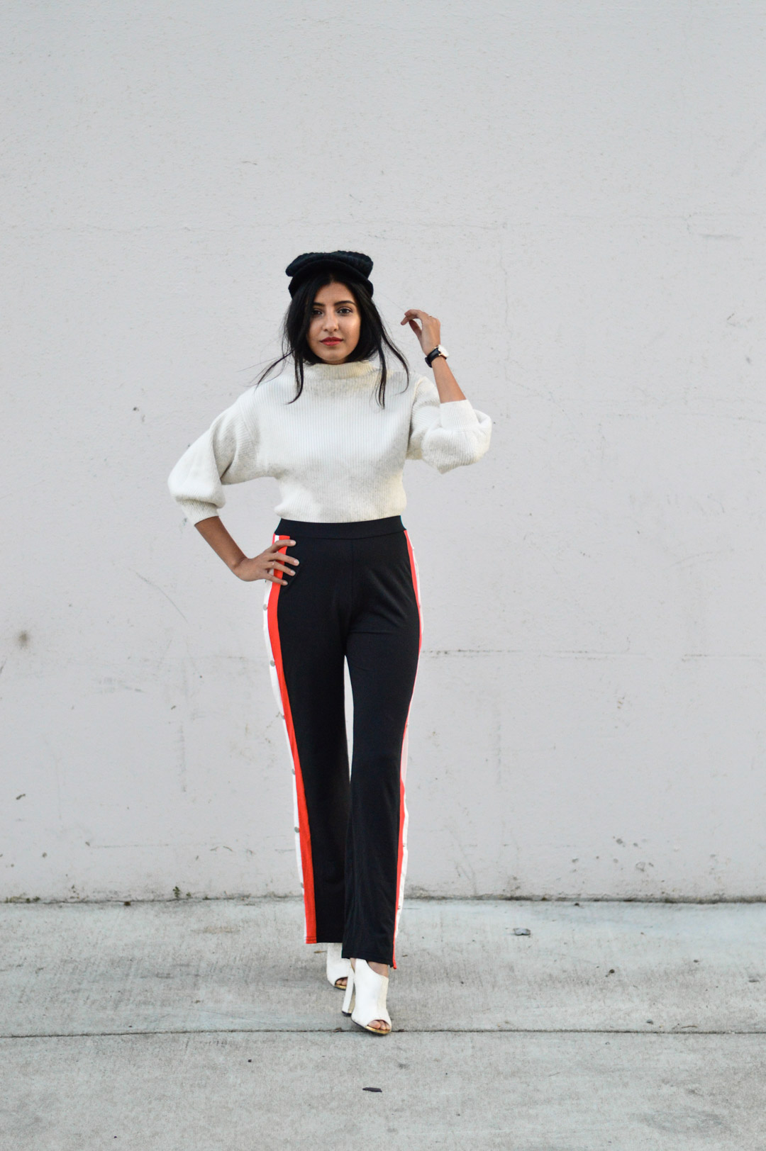 parisian-chic-tearaway-pants-turtleneck-sweater-blogger-outfit 1