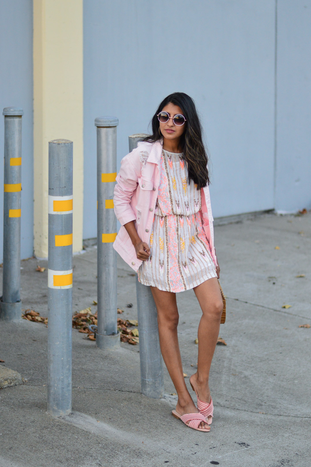 sequin-dress-daytime-pink-NYE-party-blogger 1