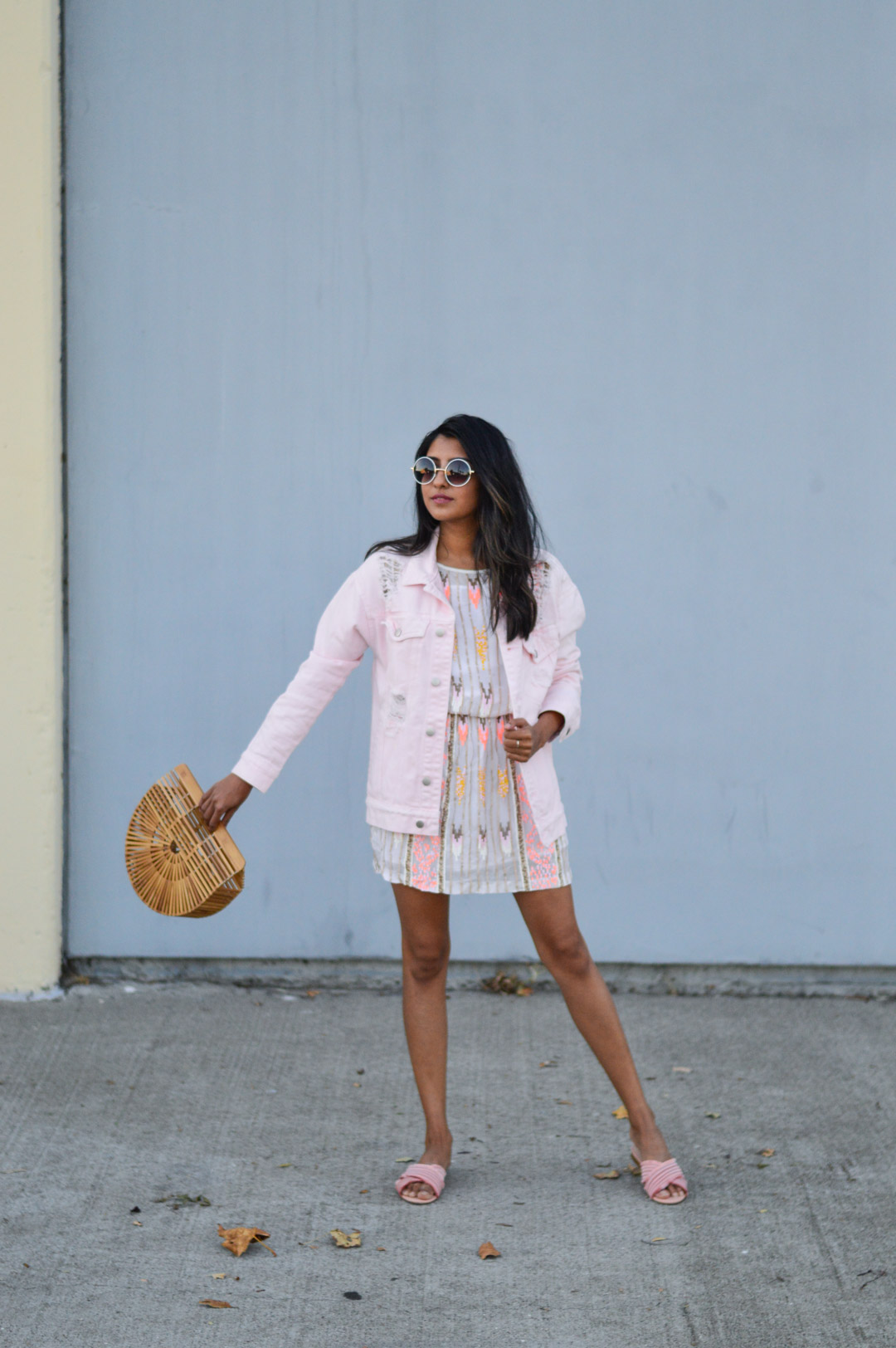 sequin-dress-daytime-pink-NYE-outfit-party-style 6