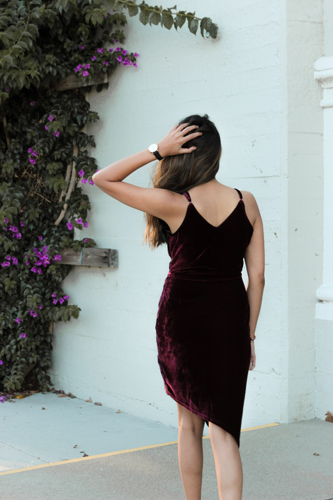 velvet-wrap-floral-dress-nye-party-style-blogger-outfit 8