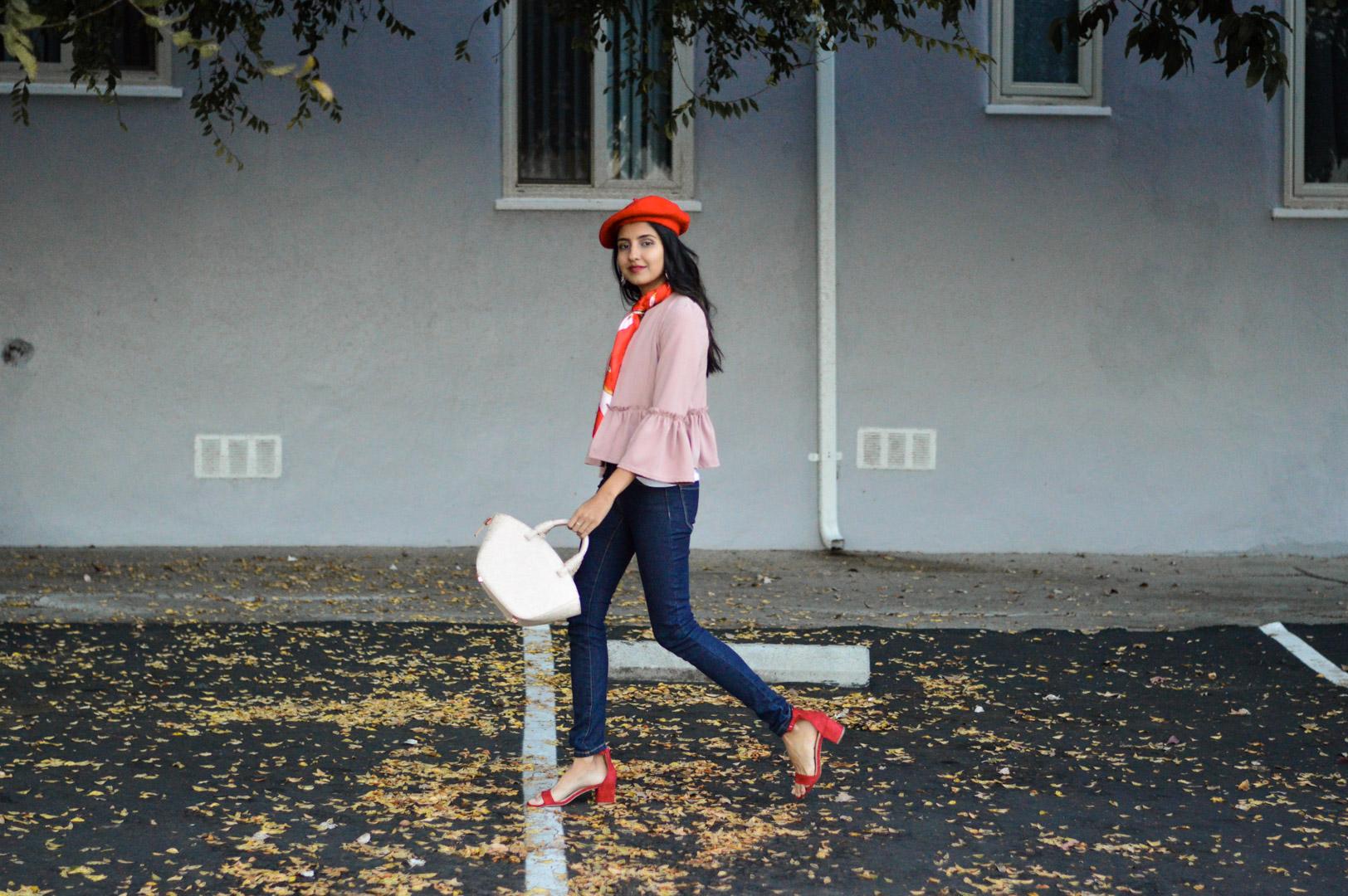 beret-winter-fashion-pink-ruffles-blazer 3