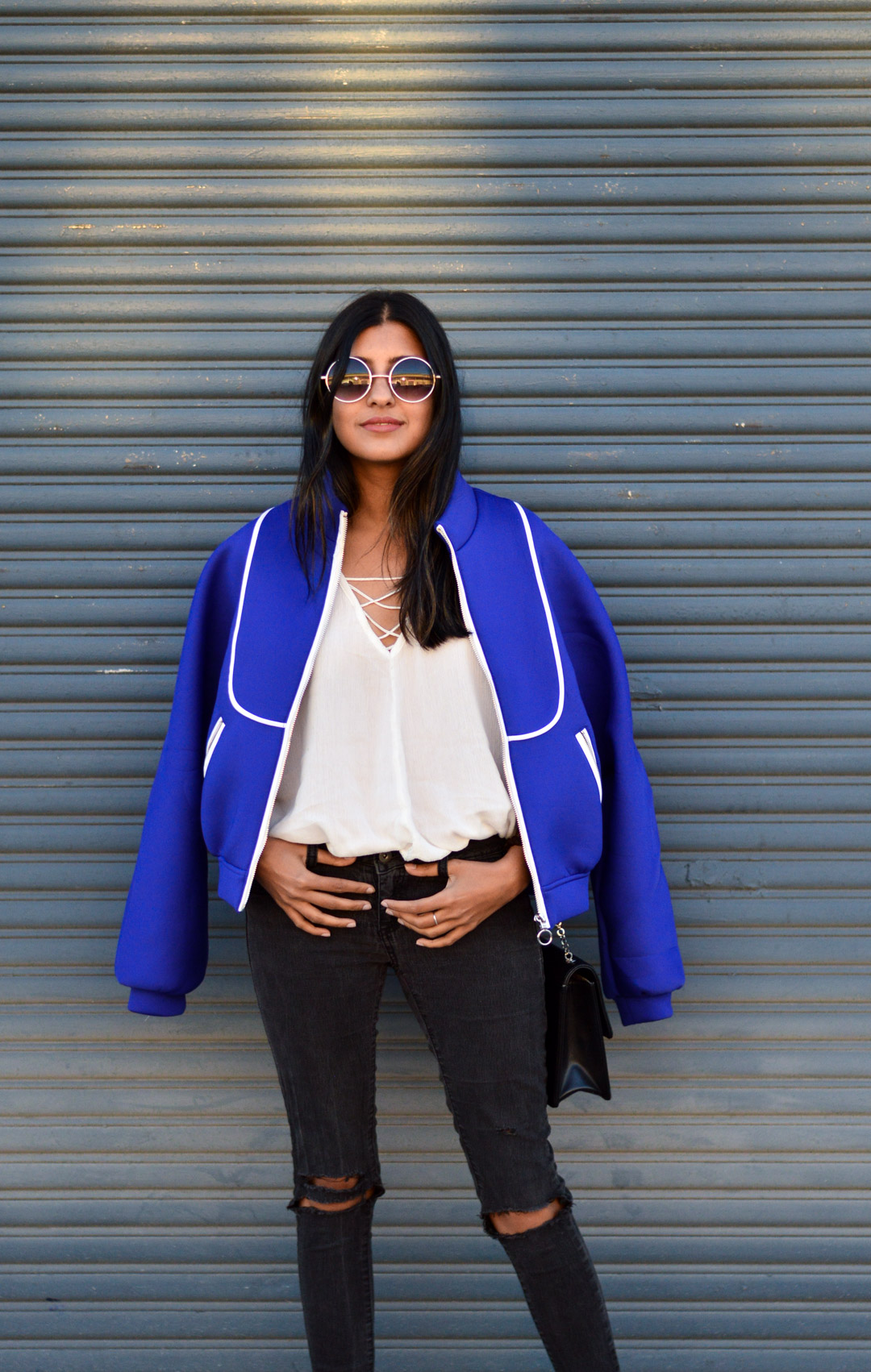 blue-bomber-jacket-winter-outfit-blogger-style 2