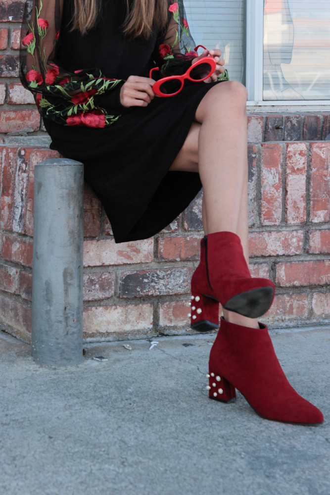 embroidered-LBD-winter-blogger-pearls-red-ankle-boots 8