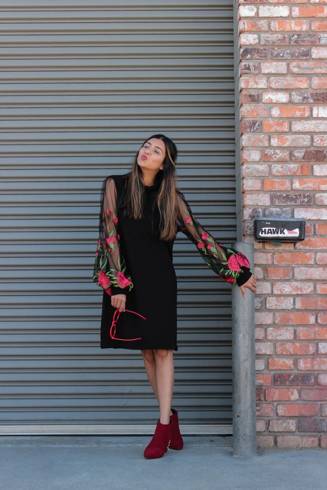 embroidered-sheer-sleeves-turtleneck-LBD-winter-fashion-blogger 9