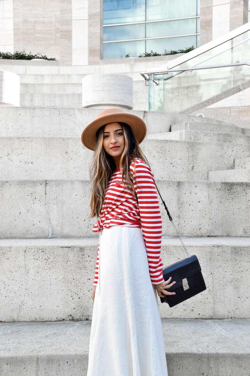 striped-tee-midi-skirt-spring-fashion-blogger 2