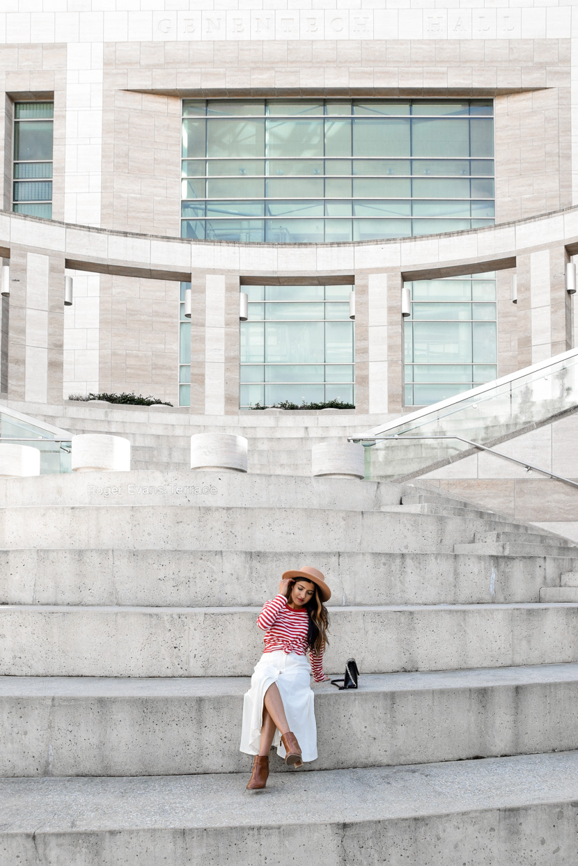 striped-tee-midi-skirt-spring-style-essentials 6