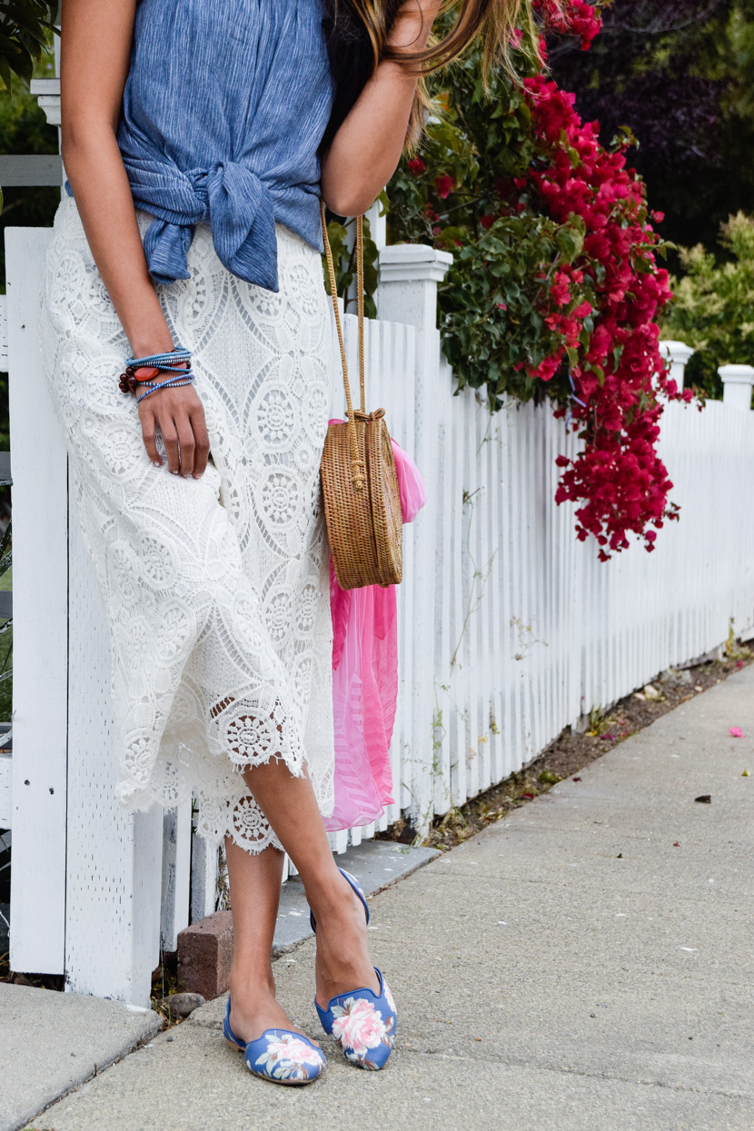 floral-flats-summer-style-lace-culottes 5