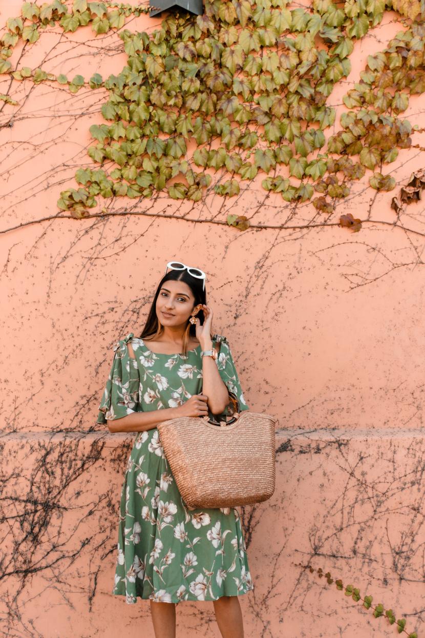 summer-floral-dress-midi-blogger-style 2