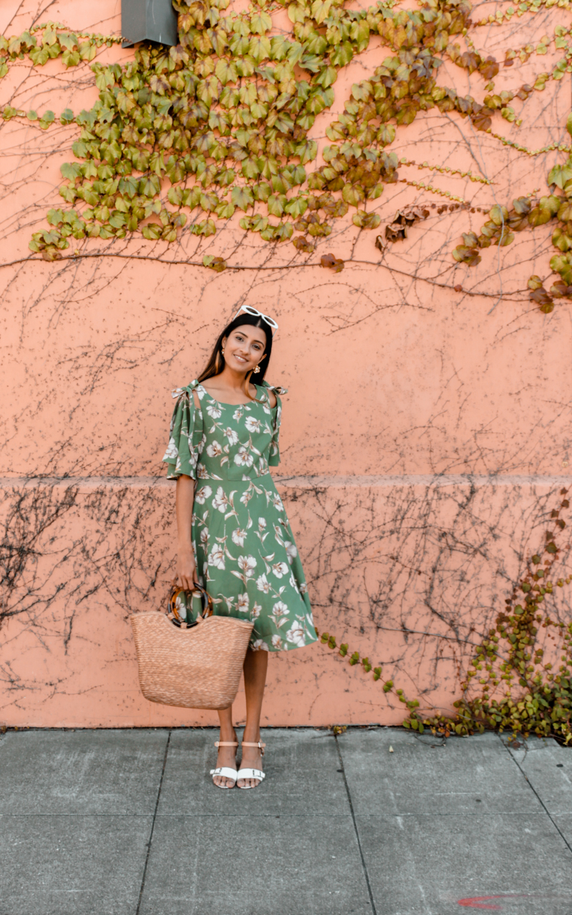 fashion-floral-dress-midi-blogger-outfit 5