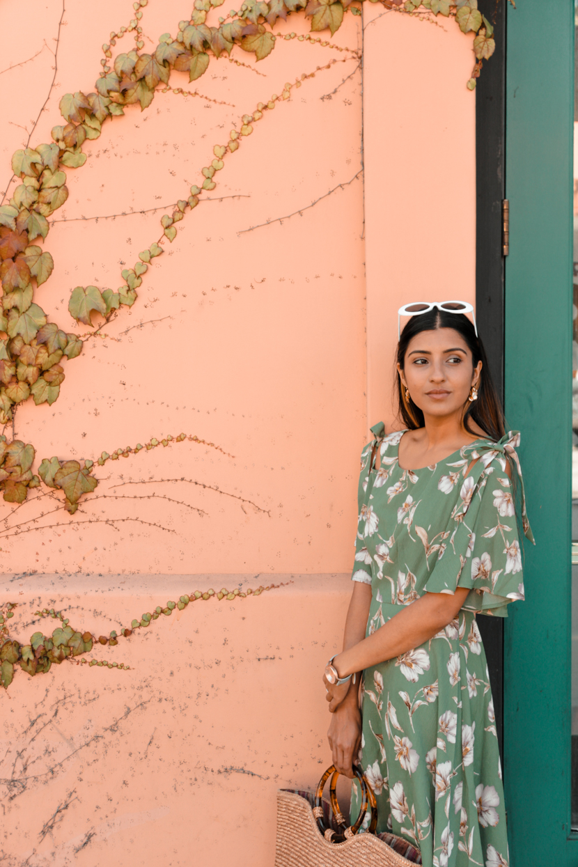 green-floral-dress-midi-blogger-style 6