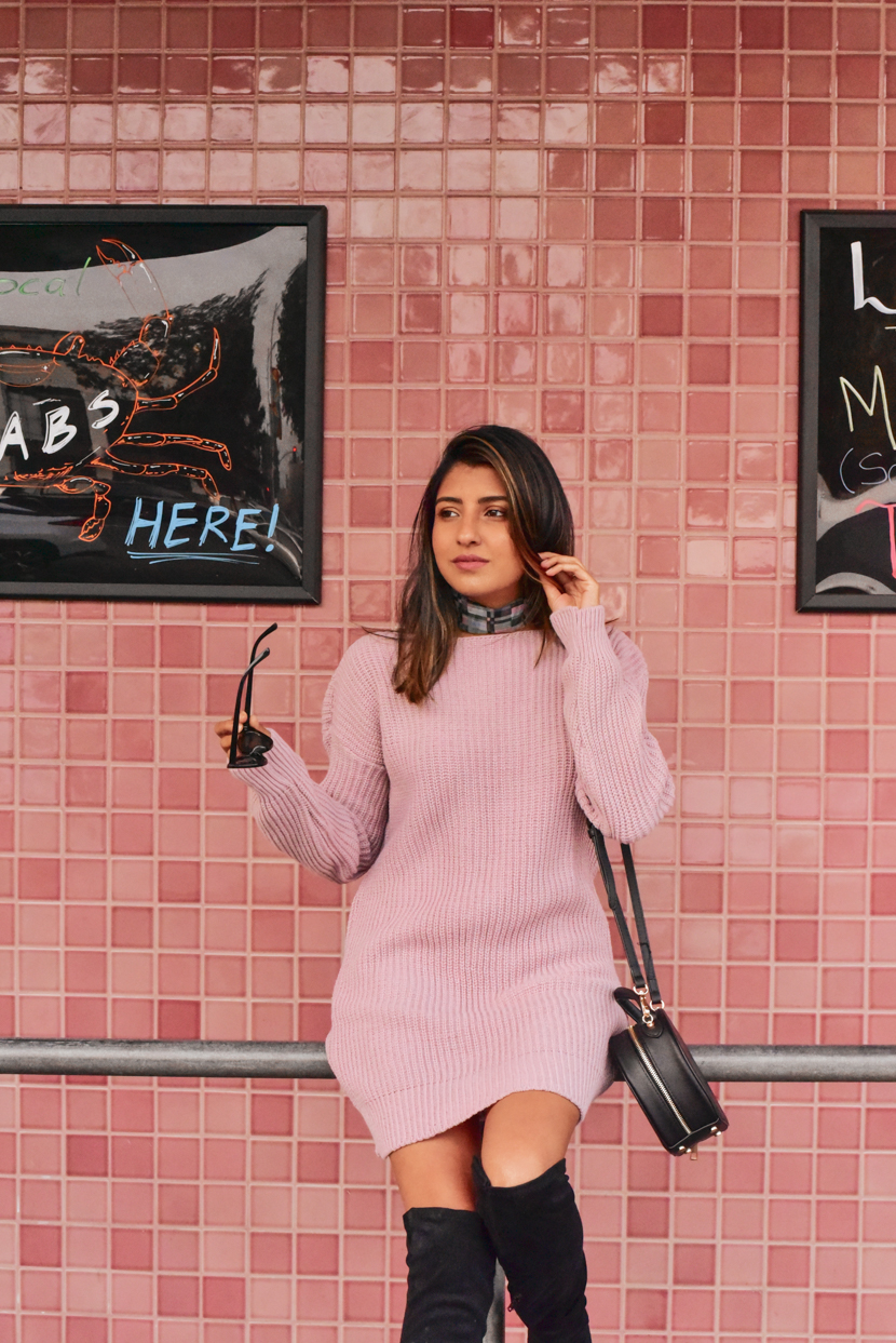 sweater-dress-pink-outfit-blogger 10