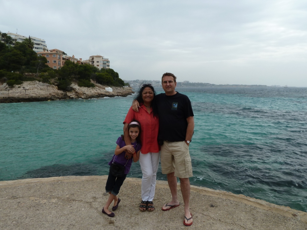 Peter, Katalina and Granddaughter in Palma de Mallorca