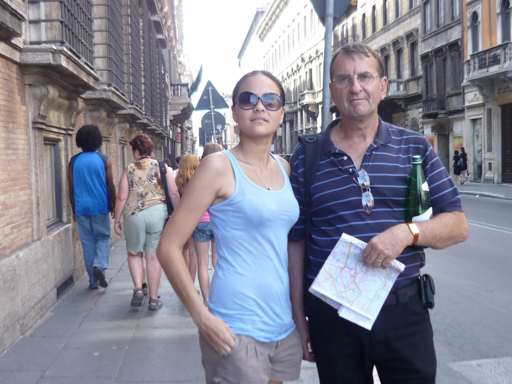 2011 - Peter with daughter, Natasha, in Rome