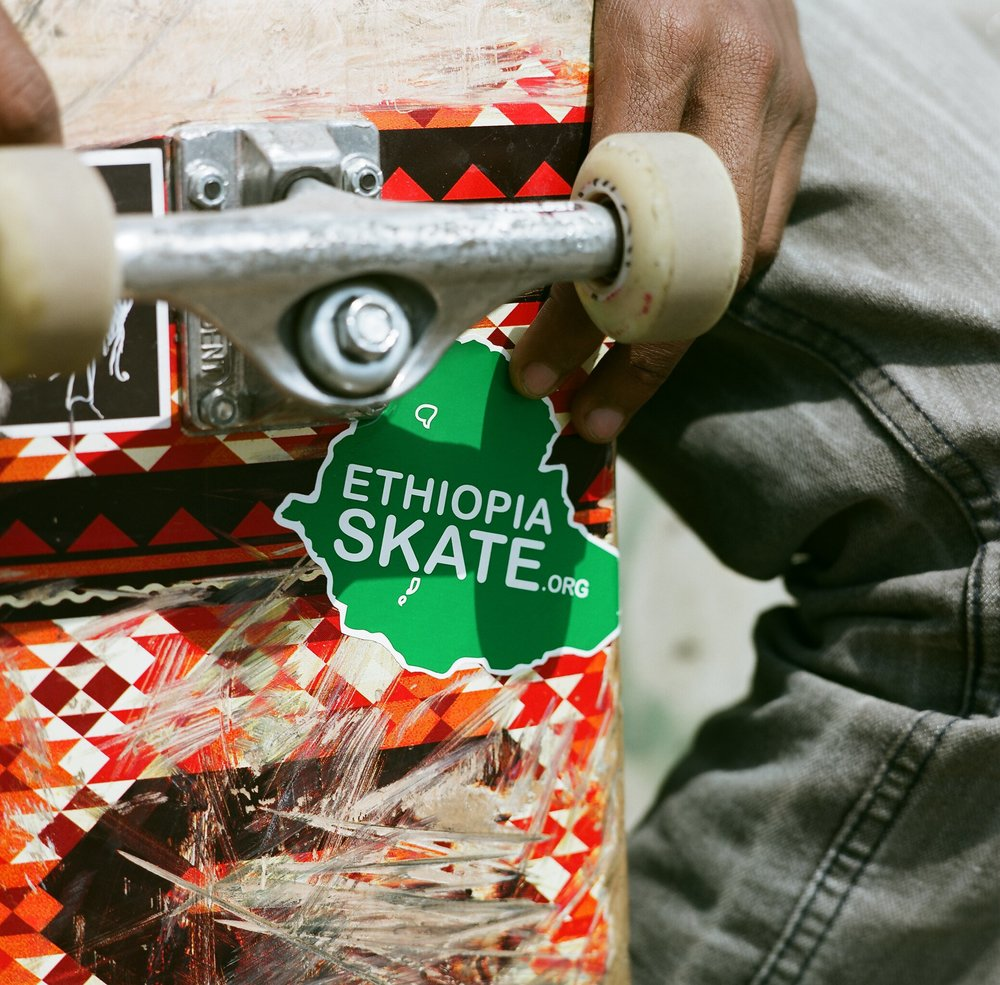 Ethiopia Skate Sticker