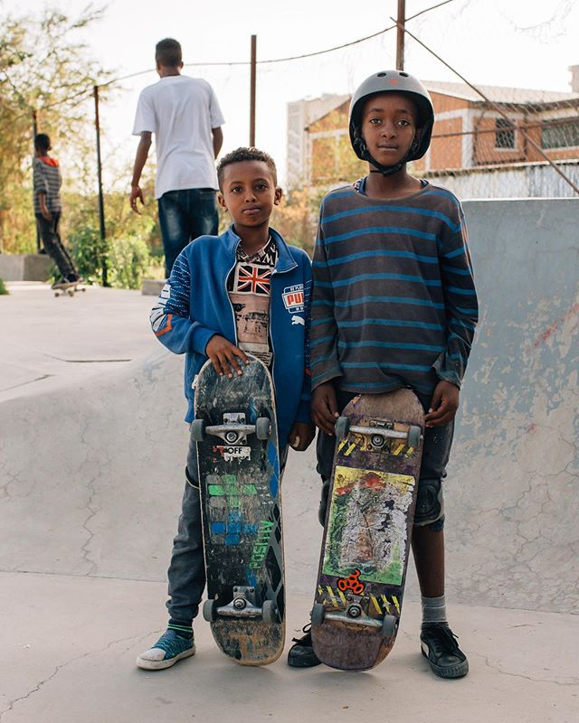 Abel and Samson have been regulars at Addis Skatepark since last year's renovations - nice to see them progress every day🚀 #addisababa #ethiopia