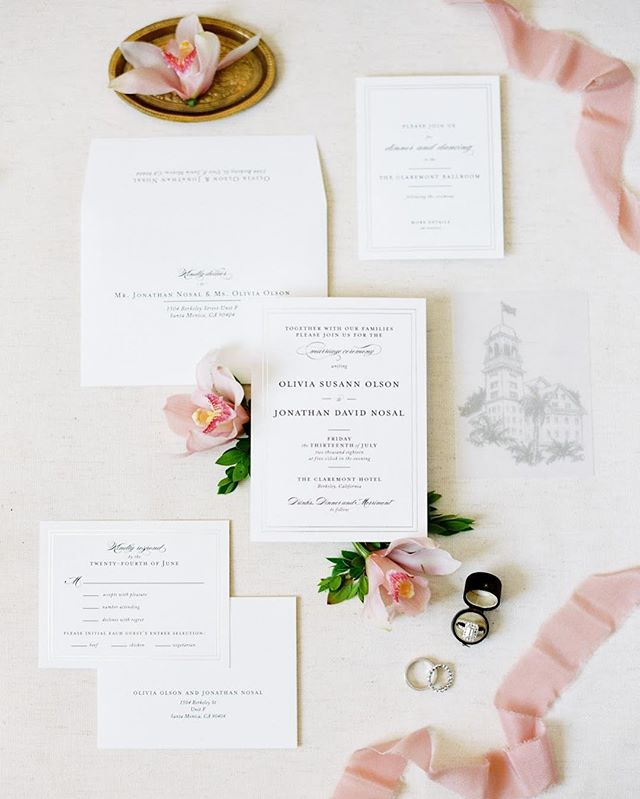 can't wait to work with @esmeraldafranco_ + @jessicakay_photo next week for our first 2019 wedding. it's going to be another gorgeous @claremonthotel event ✨ this invitation suite from liv + jd's claremont wedding included the sweetest velum printed image of this iconic hotel!  photography @jessicakay_photo  design + styling @linenandlilac  venue @claremonthotel . . . . . . . . . . . . . . .  #flashesofdelight #fairmontmoments #fairmontweddings #claremontclubandspa #claremontwedding #eastbaybride #eastbayweddingplanner #ohwowyes #liveauthentic #livethelittlethings #communityovercompetition #lessworkmorelife #lamorinda #moraga #orinda #lafayette #thatsdarling #thehappynow #engagedlife
