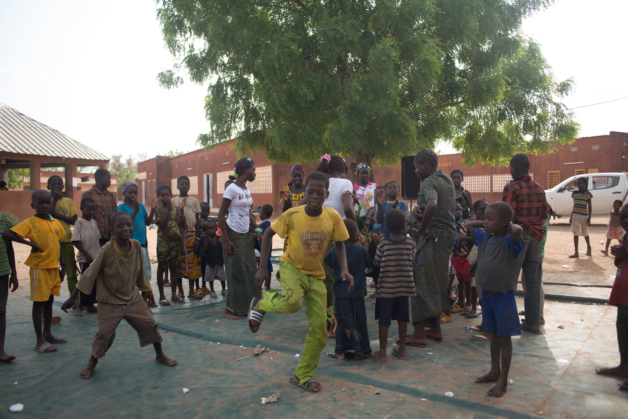 Burkinabe parties also include lots of dancing.