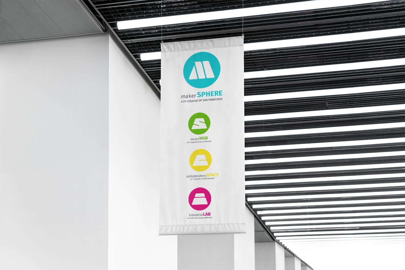 makerSPHERE Logo + Identity System