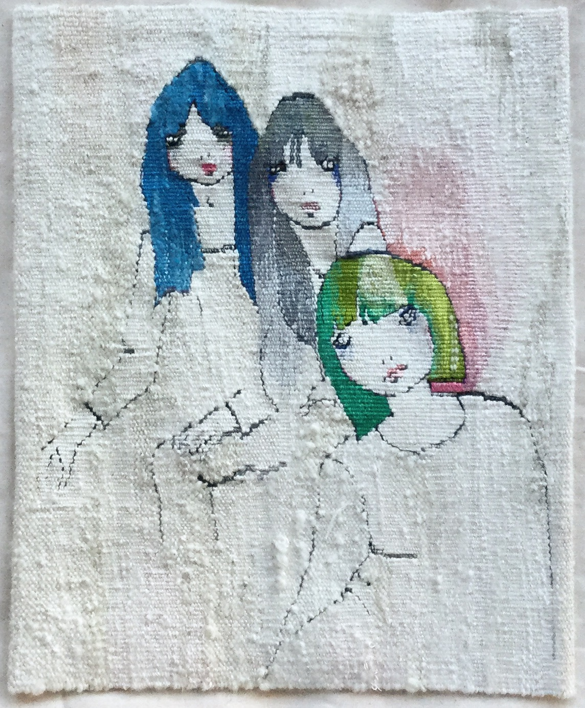 The Biba Girls  2017  30 x 24.5 cm  Also a finalist in the Kate Derum Award for Small Tapestries