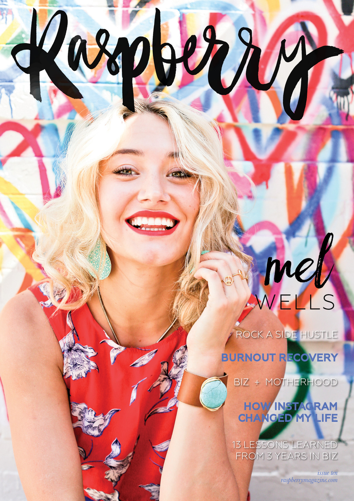 ISSUE TEN  ( read online here )   COVER STORY // An interview with Mel Wells, coach and Hay House author who empowers modern day women to stop dieting for good, by adopting a healthy, loving relationship with food, and a brand new lifestyle that reflects this.   13 lessons learned in 3 years of growing a business  by Lauren Hong   4 keys to getting your writing groove back  by Kris Emery   The side hustle: how to run a business after hours  by Dannie L Fountain   Finding balance in business and motherhood  by Heather Mudry   Feeling lonely? Tips for the solo biz woman  by Tara Caetano   Manage your calendar like a celebrity personal assistant  by Courtney Daniel   How I bounced back from burnout  by Karina Stephens   8 key ways to grow your health coaching business  by Shelley Davidescu   How Instagram changed my life  by Madison Rosenberger   Fight the PJs temptation: get dressed to improve productivity  by Gemma Williams   8 steps to creating your online course  by Tracey Meyer