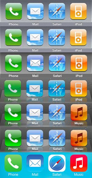 iOS docks change