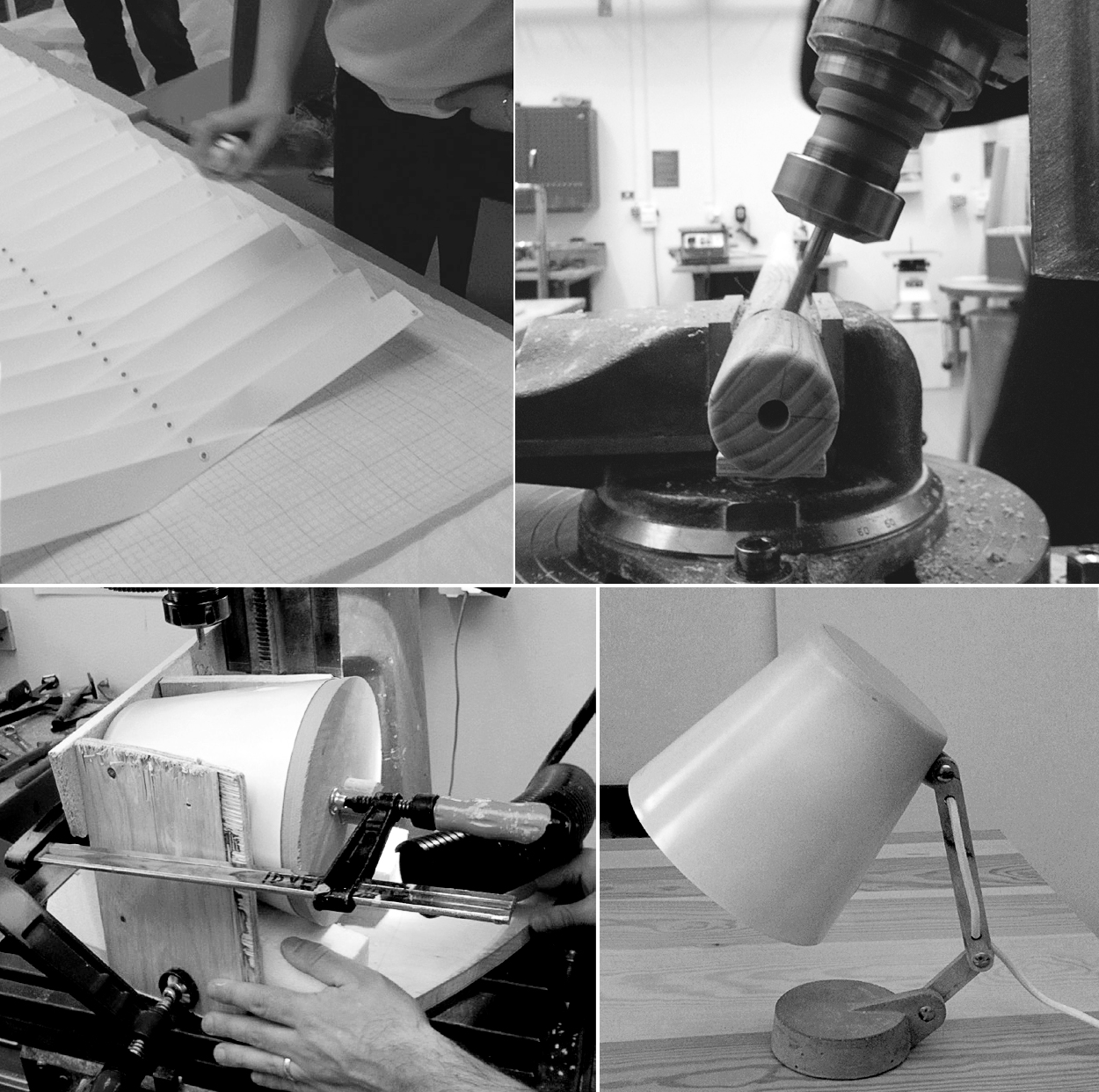 Process - All pieces were designed and prototyped by us as a side project to our regular studies.This approach brought as close to the materiality of the objects and enabled us to think with our hands.