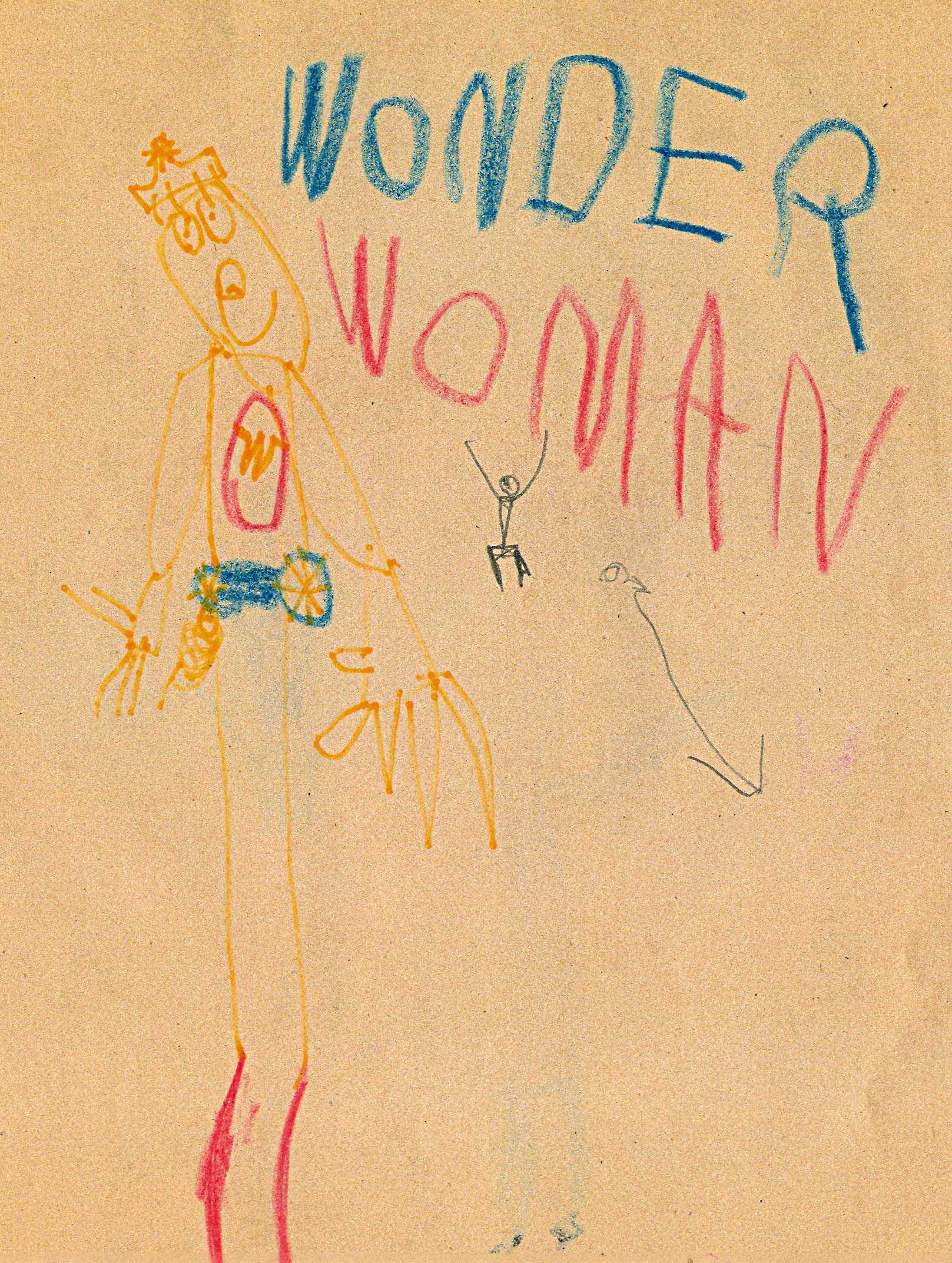 Wonder Woman variant cover by Nate Powell (age 4), 1982.
