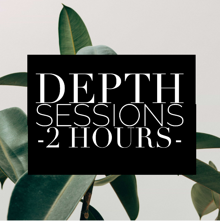 DEPTH Sessions2 Hours - Deep emotional processing is the act of feeling, understanding, and working with painful emotions in order to experience meaningful release and healing.◍ process past emotional and somatic pain◍ deeper integration & release work◍ practice incorporating a variety of strategies and healing tools to break through blocks quicklyIn Person (Woodstock, NY) & Virtual (Zoom)Exchange | $255 per session*I lovingly offer 1-2 sliding scale spots for those with limited budgets and resources. If this is you, please contact me to discuss options.