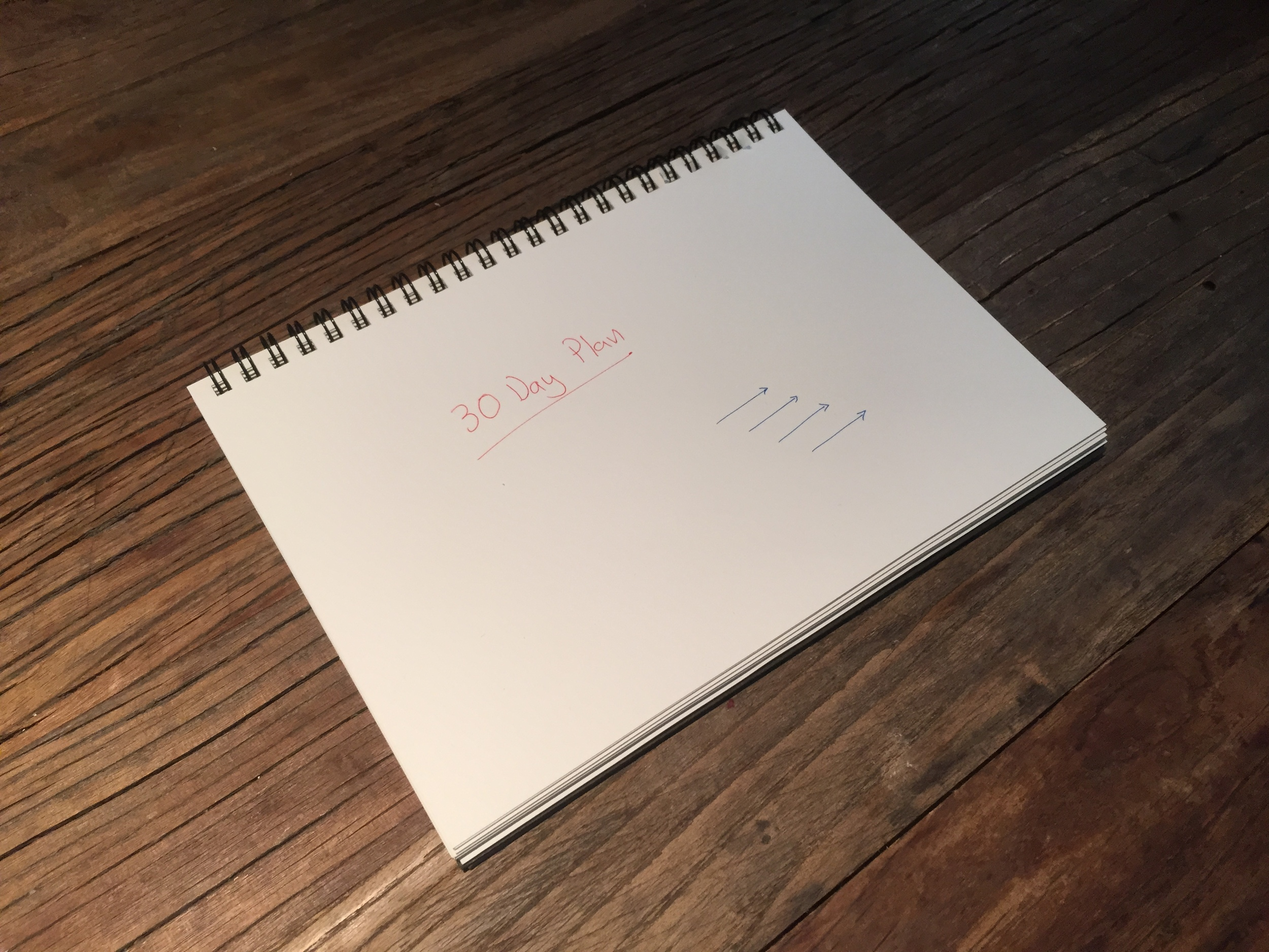 30 Day Plan Doodle Handwritten