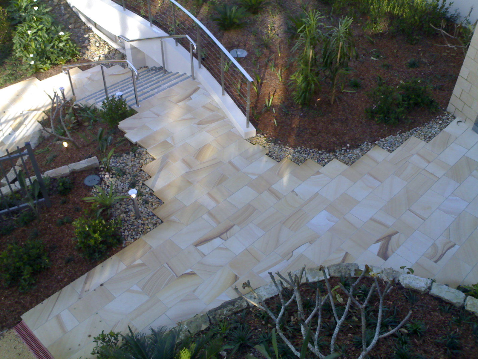 MTW Medium Brown Paving and Step detail