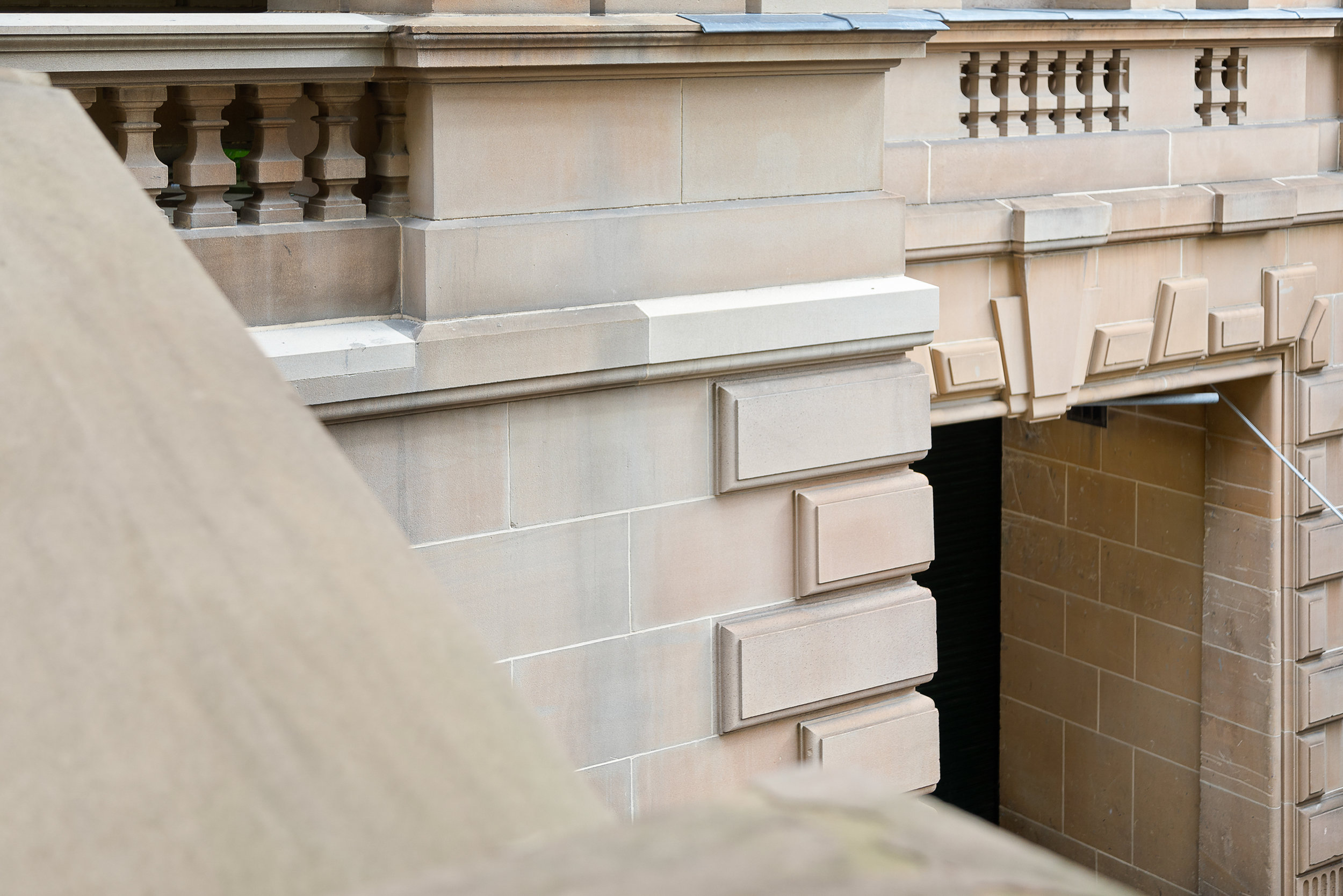 Sydney Town Hall -Heritage restoration using Gosford Quarries 200 George St Sydney sandstone Yellowblock  (4).jpg