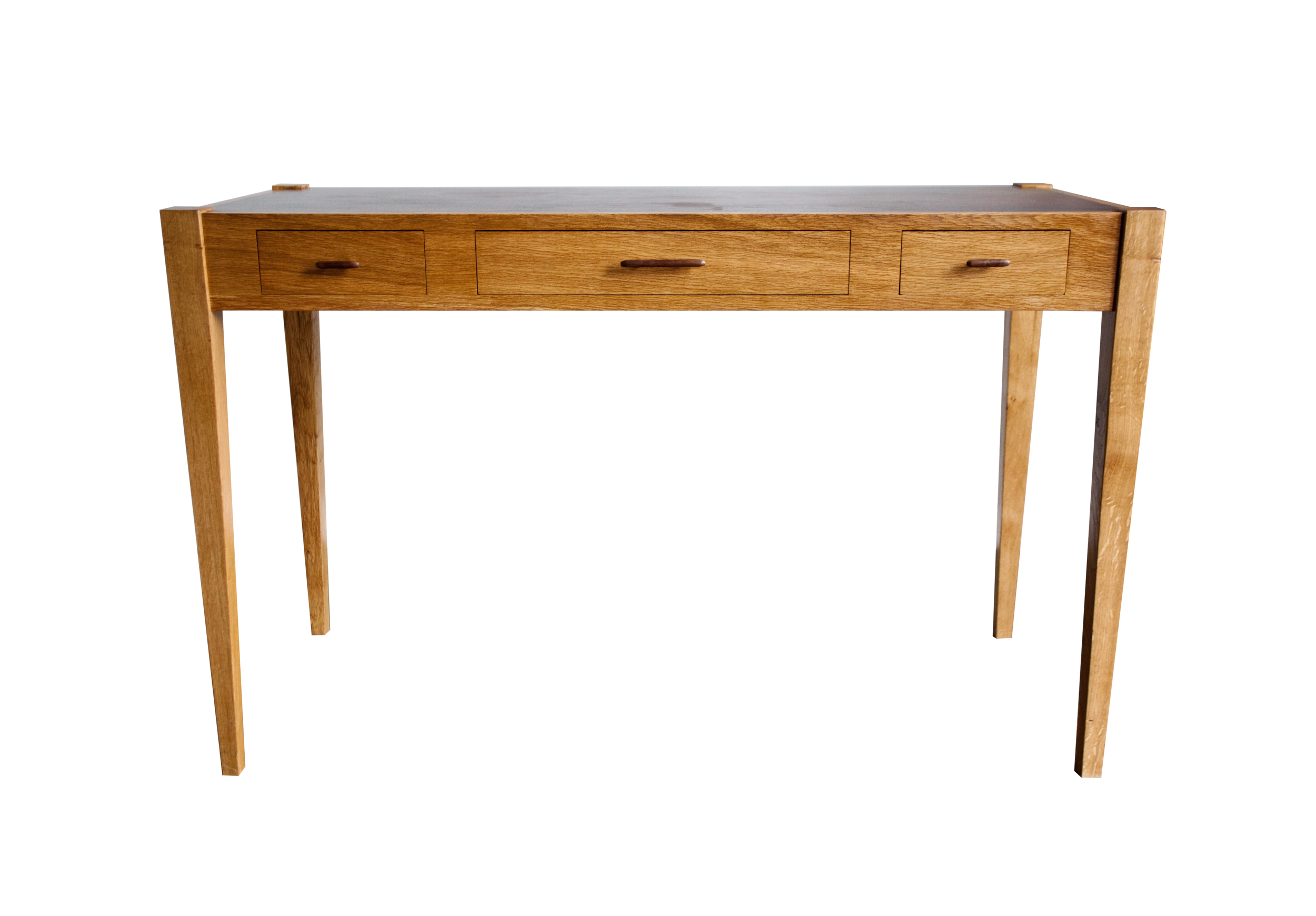 Oak Writing Desk with Inlaid Top