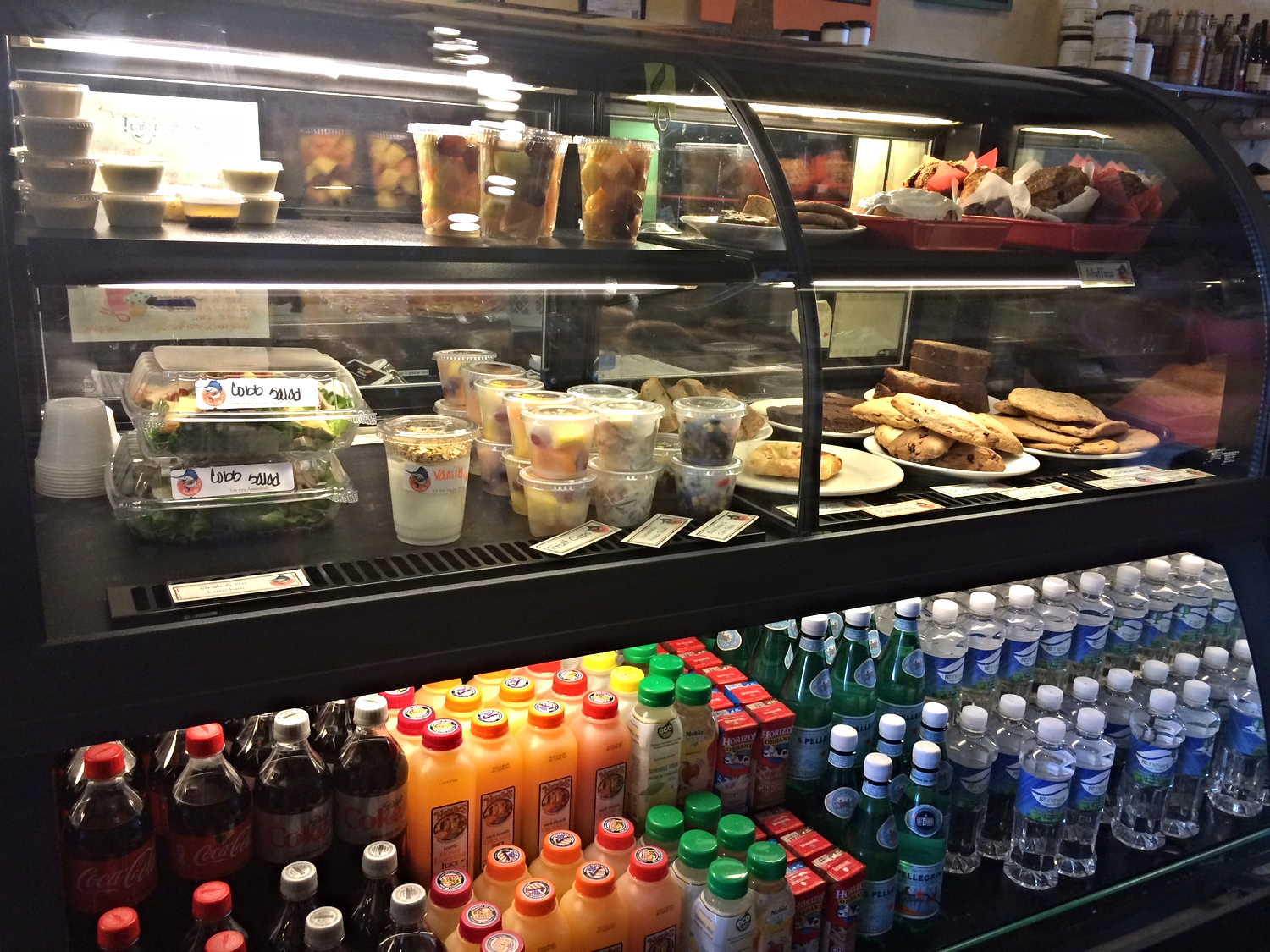Salads, homemade desserts, sides and refreshing cold drinks