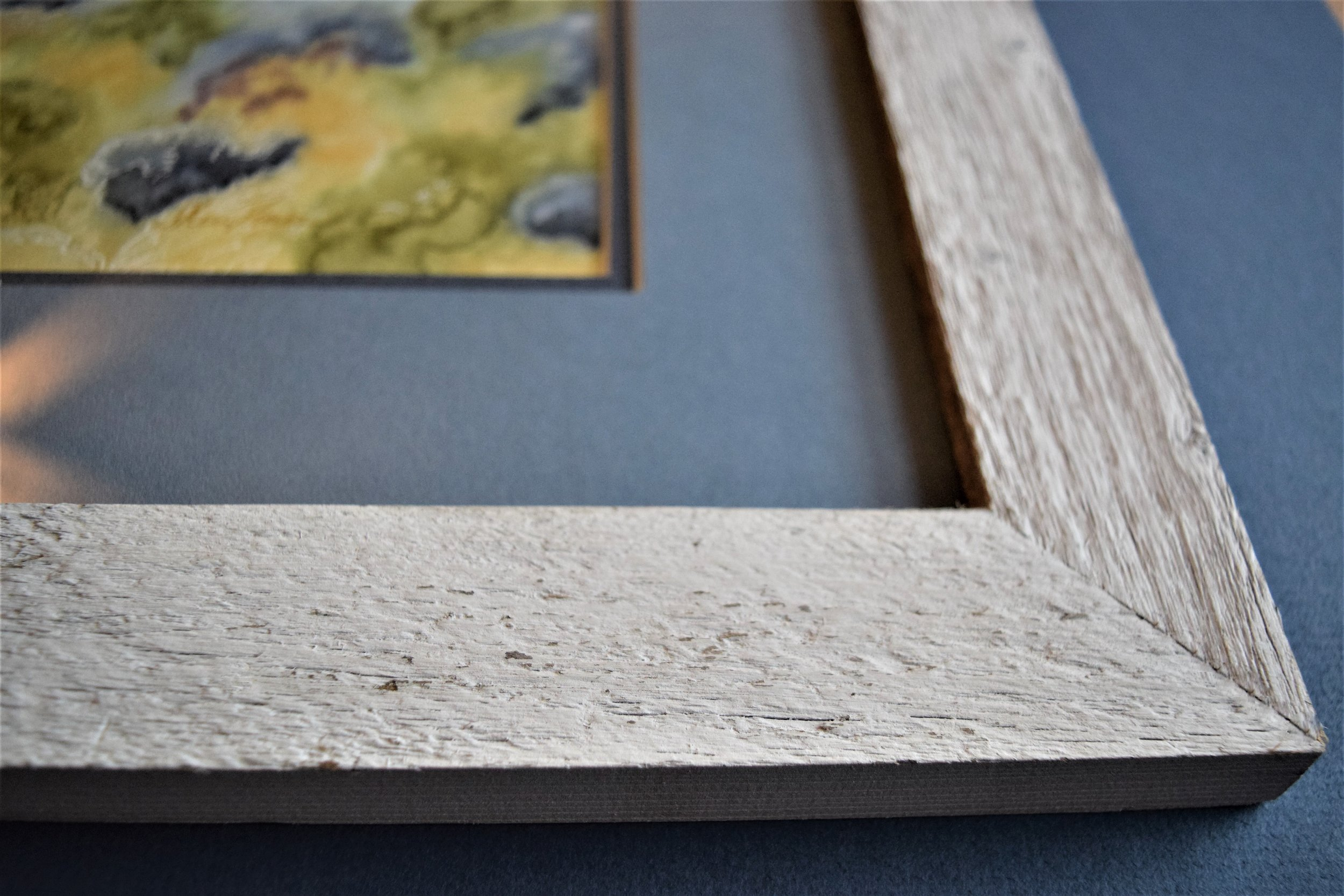 Matting and Authentic Barn Wood Custom Picture Framing