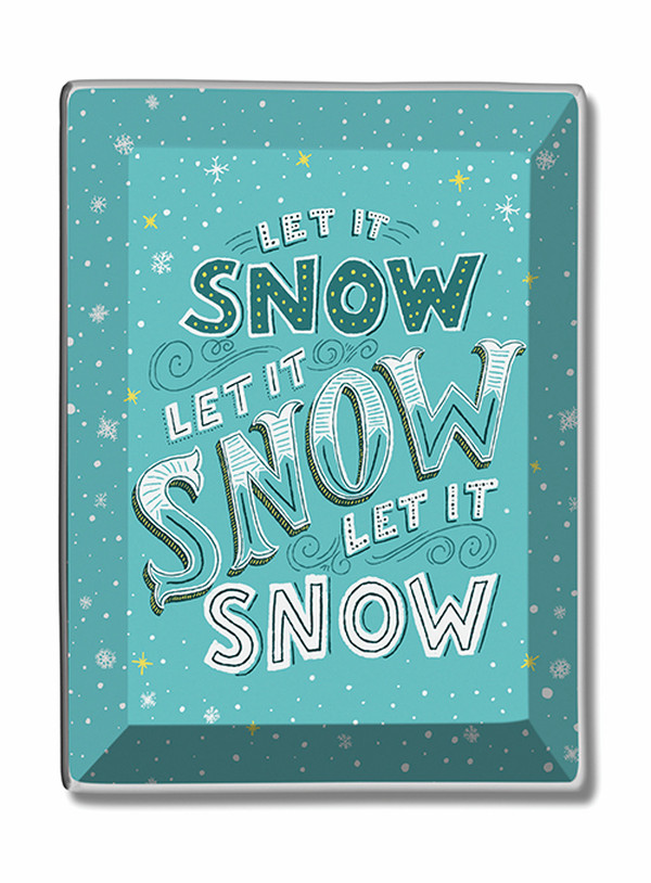 Let It Snow Trinket Dish Studio Oh Shauna Lynn Panczyszyn Item #81014 UPC 846307022648