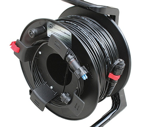 Tactical Fiber Systems DuraTAC Armored Cable & Reel with BullsEye Connectors