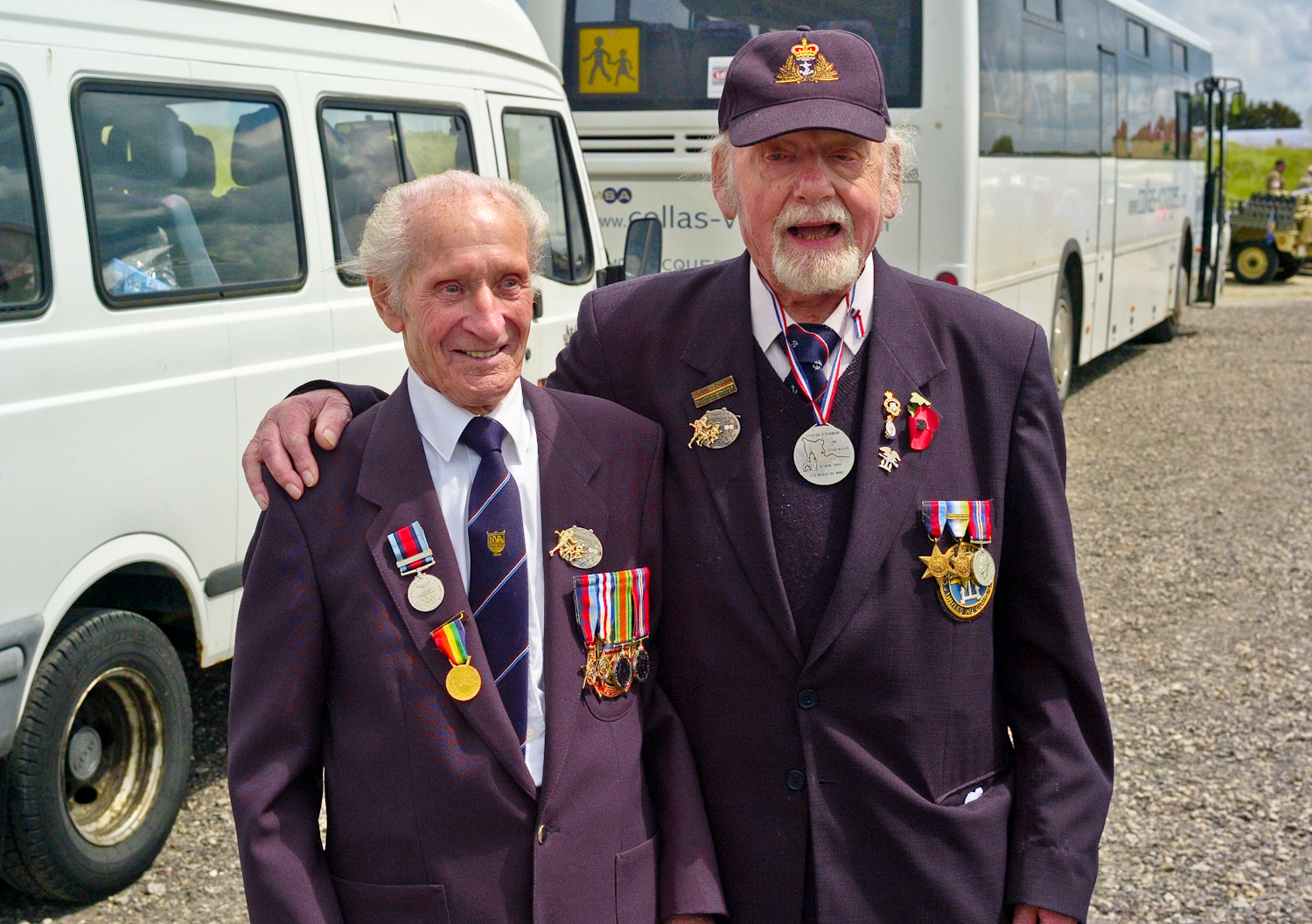 Ernie Covill and Peter Scott. Two friends from the 67th anniversary. We were so pleased to see them again!