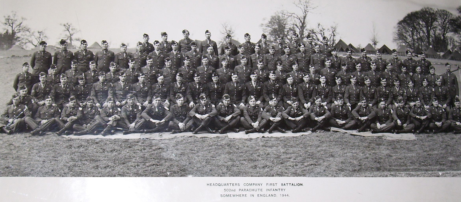 """First Battalion, 502nd Parachute Infantry Regiment in 1944. """"Somewhere in England"""