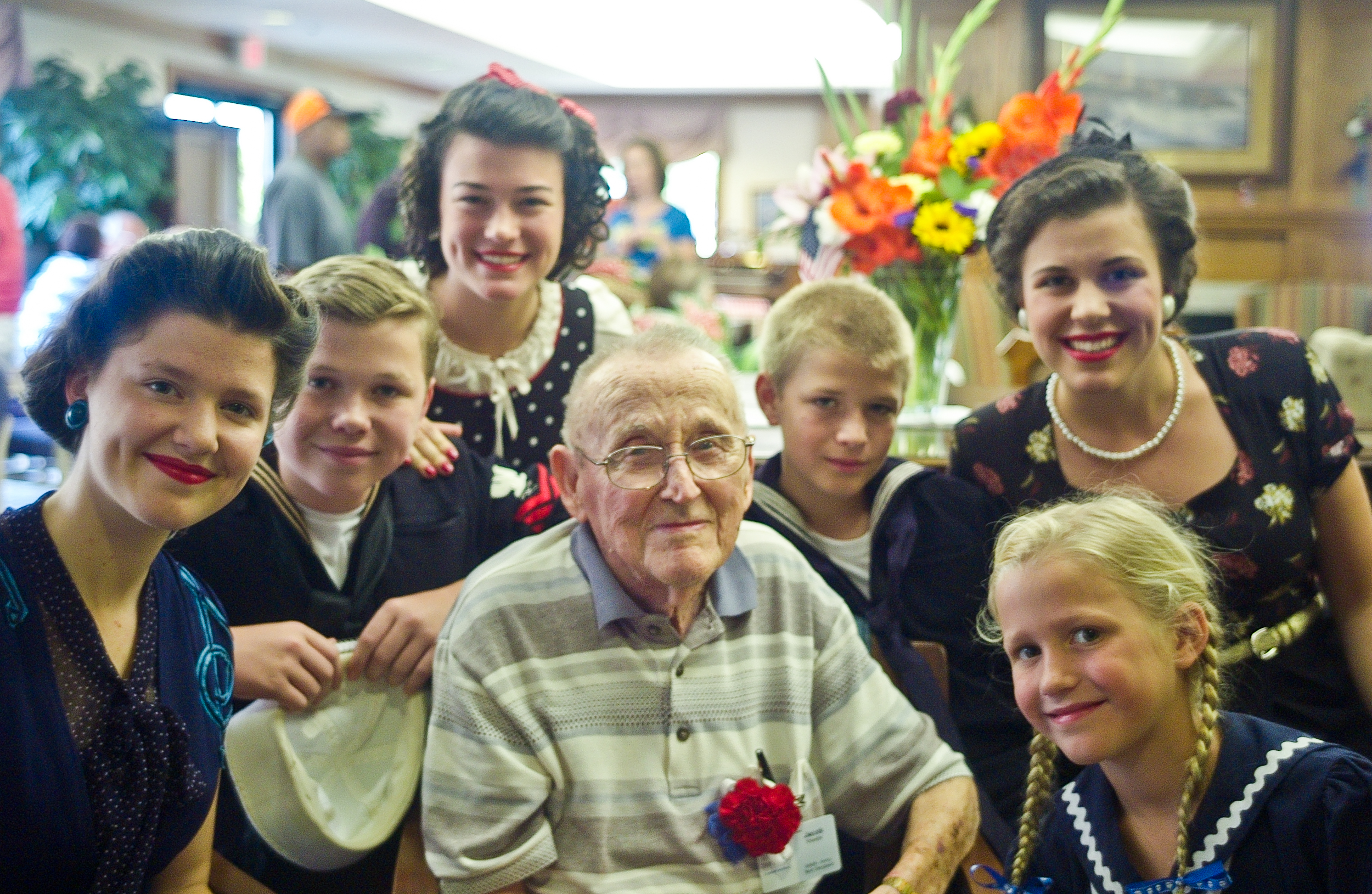 Mr. JacobKesiatie was stationed just a little ways from us at the San Marcos Military Hospital in Texas throughout the war. He said his favorite thing about Texas was the Bluebonnets. He had never seen anything like them before.