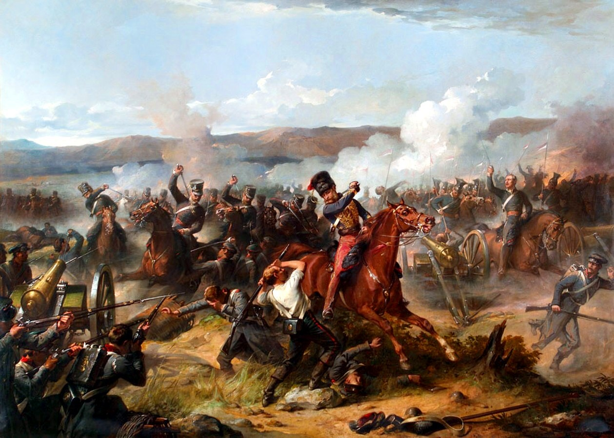 Painting of the Charge of the Light Brigade