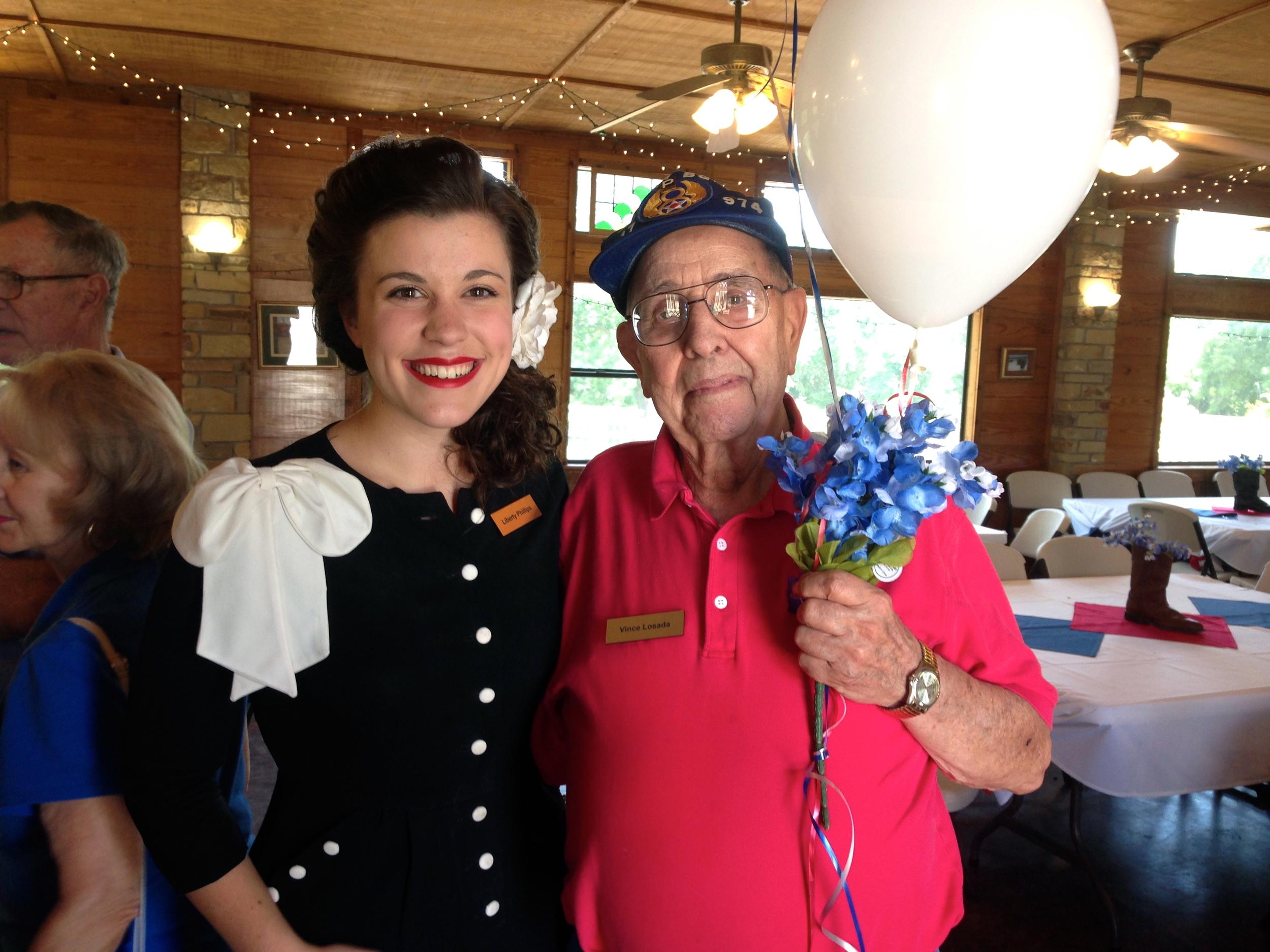 Mr. Vincent Losada, Purple Heart recipient.