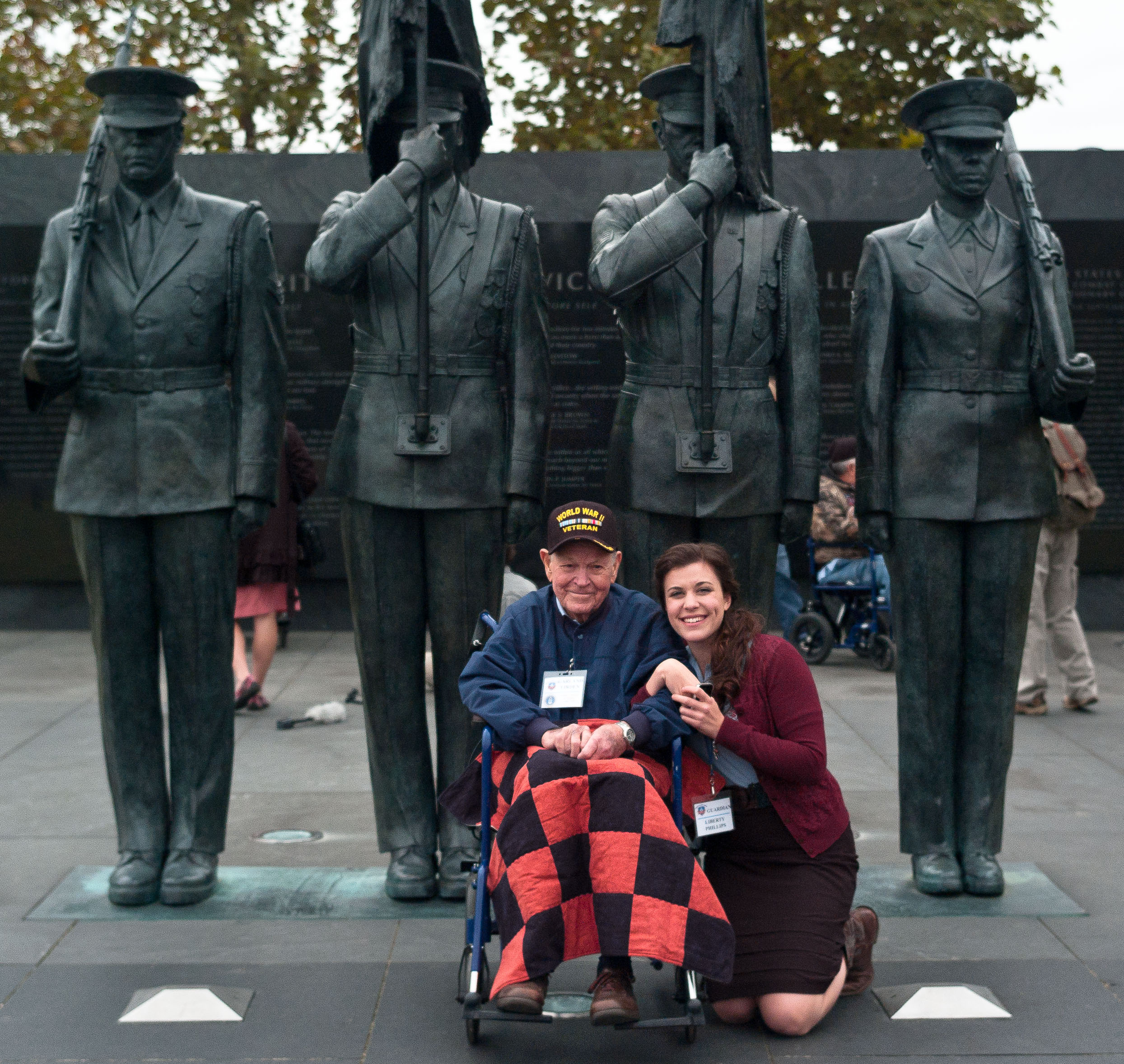 Liberty and Mr. Virden at the Air Force Memorial