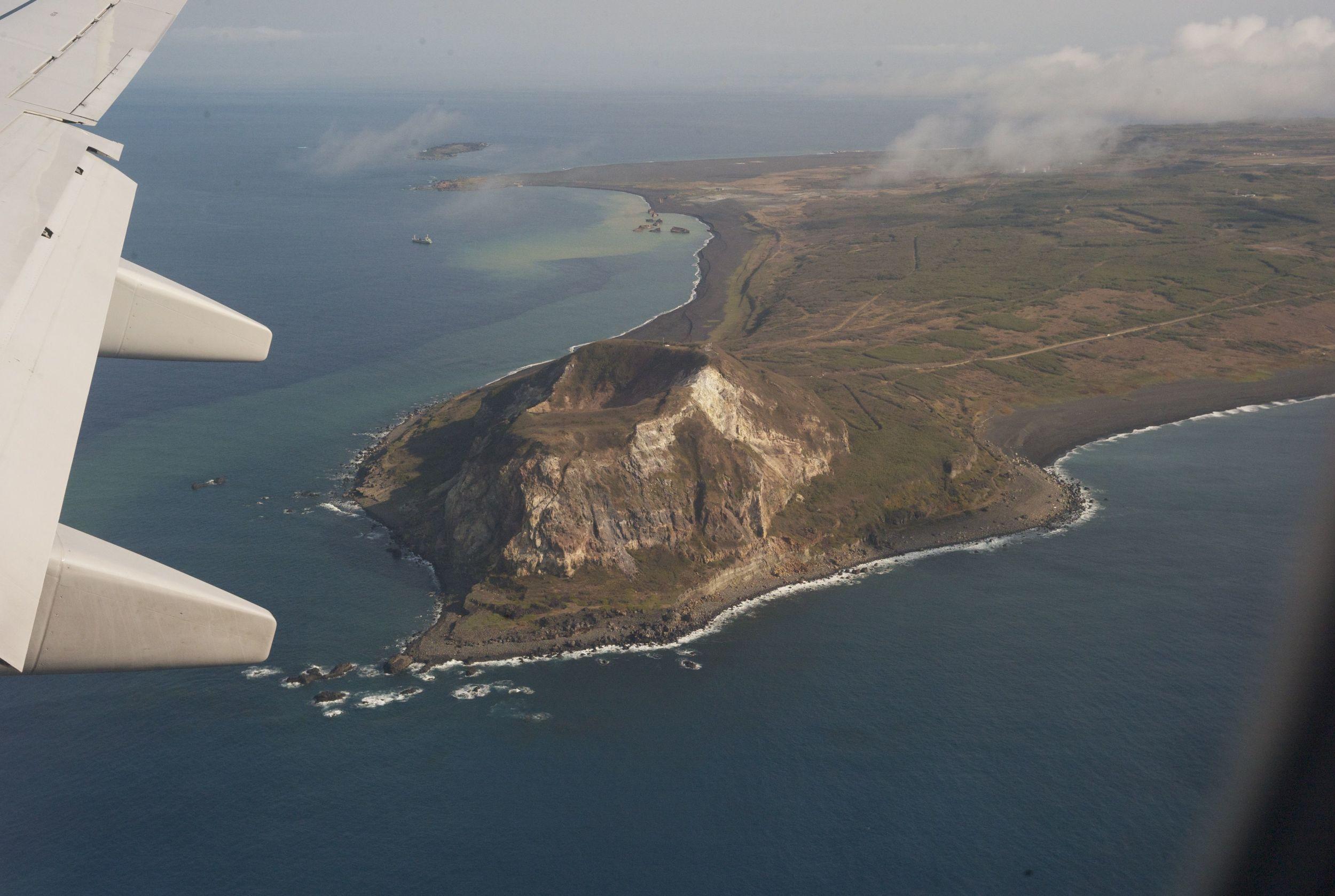 First sight of Iwo Jima