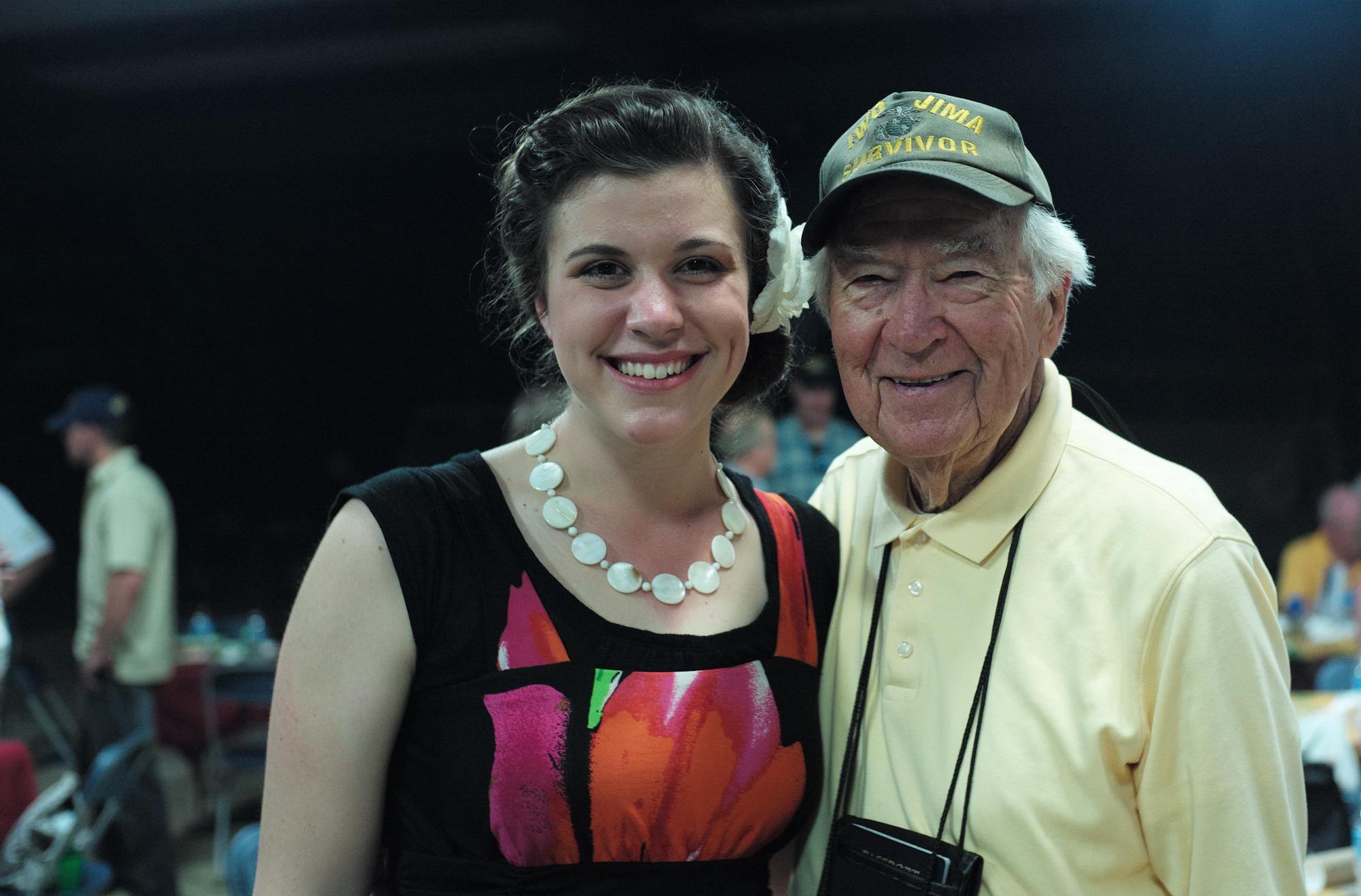 Iwo Jima and Korean War veteran, Norman Baker