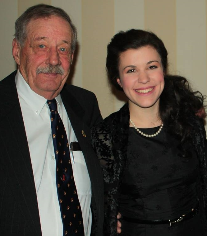 """With """"Sir Smith"""" at the Iwo Jima Reunion in February (Photo Credit: Dean Laubach"""