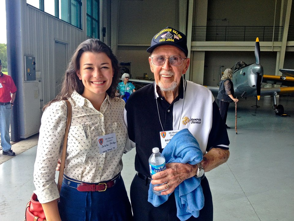 Jubilee and Mr. Madden at the 5th Marine Division Reunion