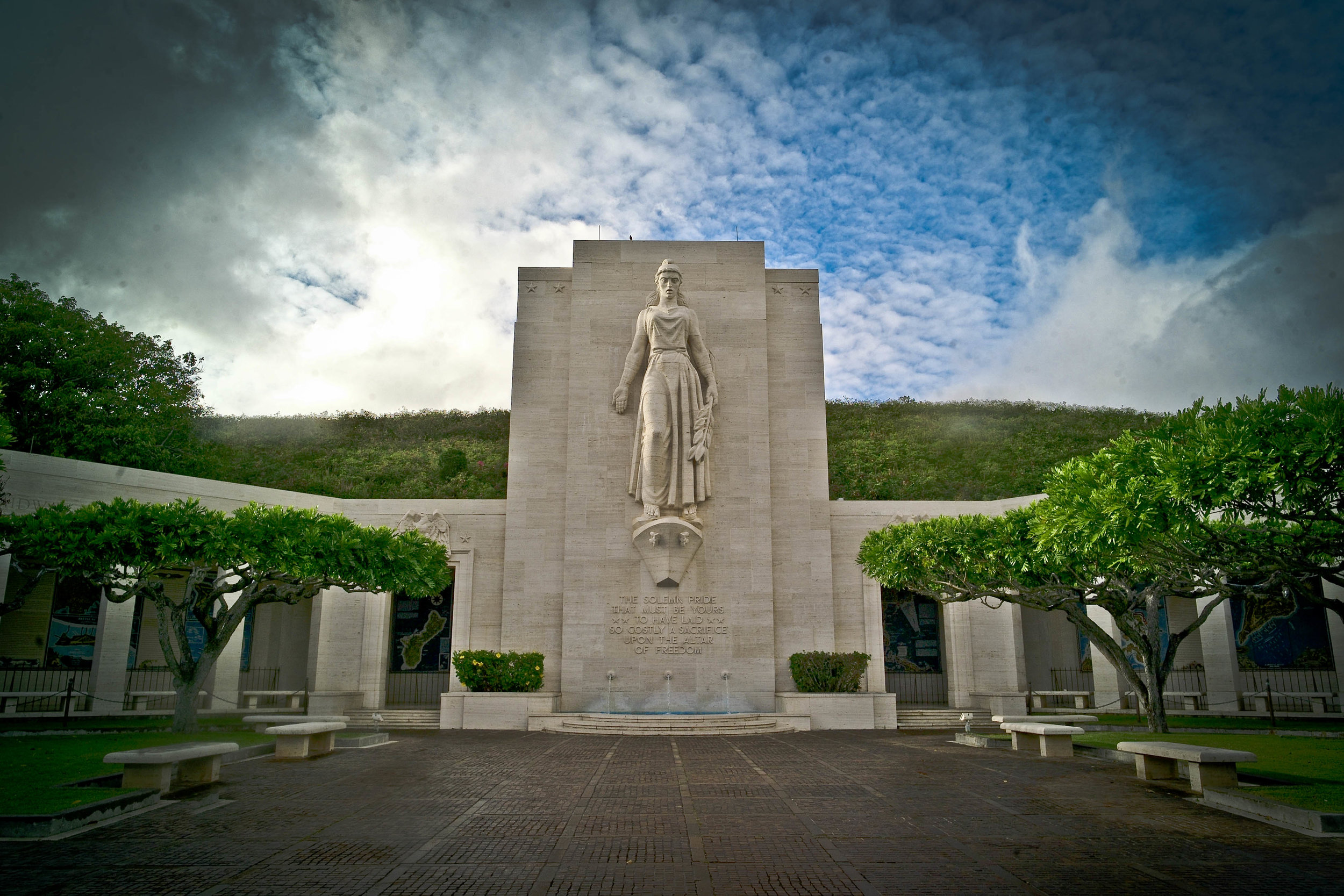 """""""The Punchbowl Cemetery"""" (National Memorial Cemetery of the Pacific) in Hawaii"""