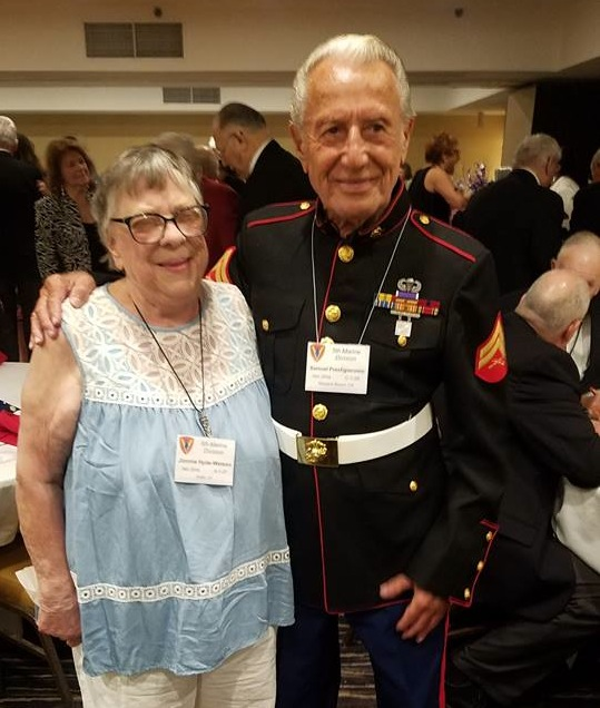 Ms. Jimmie and the handsome Iwo Jima veteran Sam Prestigiacomo
